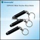 popular mini stylus pen with keychain,touch screen pen with keychain