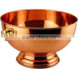 copper shiny round high quality large wine ice bucket