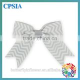 Handmade DIY grey stripe Hair Bow For Baby Girls Headband's Accessary Without Clips grosgrain Hair bows