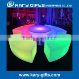 Valuable illuminated commercial furniture led waiting chair