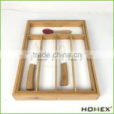 Solid Bamboo cutlery holder and cutlery tray Homex BSCI/Factory
