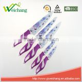 WCE568 5 pcs set Kitchen Knives artwork painting blade PP+TPR handle , hot sale, Wholesale