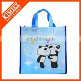 Happy Sky Blue Non Woven Shoulder Shopping Bag