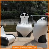 Cartoon Panda Fiberglass Baby Chair