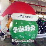 Outdoor Advertising Christmas Balloons Inflatable Hat for Holiday Decoration