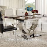 2015 Modern glass/marble dining table AH2197