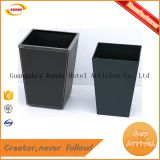 leather surface new design garbage waste bin GPX-667
