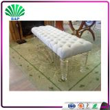 Popular White Bench Clear Acrylic Bench Shop Waiting Corner Bench Sofa