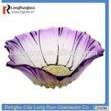 LongRun giftware wedding decoration purple white flower shape candy tray