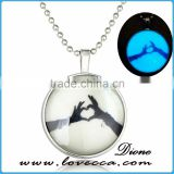 Christmas gift jewelry glow in dark luminous necklace for women