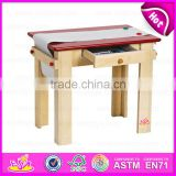 2015 New wooden drawing table toy for kids,Popular wooden toy drawing table for children,Professional Drawing Table W08G025