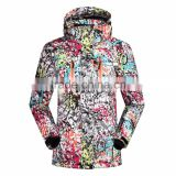 Women Windproof colorful winter ski jacket