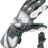 Leather Motorcycle Gloves,Leather Motorbike Gloves,Gents Racer Gloves