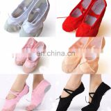 BestDance Child Adult Canvas Belly Ballet Dance Shoes Slippers Pointe Dance Gymnastics OEM