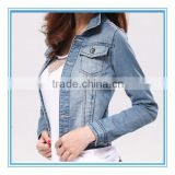 new style cotton denim <b>jean</b>s jacket for women