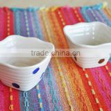 Square shape ceramic hand painting small bowl