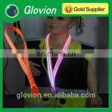 New Design double optical fiber LED flashing lanyards for kids