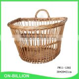 Vintage decorative wicker woven hanging basket for storage