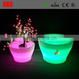 LED illuminated flower pots and planter with RGB LED lighting GD119