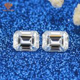 Lab created  2 carat VVS diamond loose with perfect emerald cut 6*8mm moissanite Test Positive