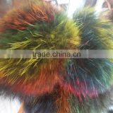 SJ749 with or without Keyring Pom Colorful Fox Fur Pompoms