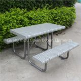 Antirust outdoor picnic setting metal outdoor table and bench
