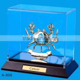24K gold plated Zodiac sign Cancer Stand Packed in Acrylic Box