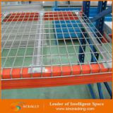 Heavy duty steel warehouse factory pallet storage rack with wire mesh decking