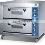 stainless steel electric baking oven with 2-deck 4-tray for pastry in cake shop made in China