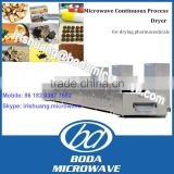 Microwave raw herbs drying machine