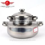 europe style new design 2pcs pot stainless steel cookware pot sets