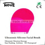 Home Use Effectively Deep Cleansing Face Care Tools Ultrasonic Vibration Silicone Facial Brush For Wholesale