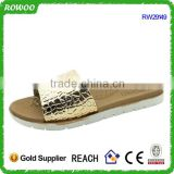 Lady Comfort Gold Patent Metallic PU Rubber slippers,Sandals and slipper,Flip flops