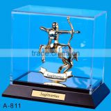 24K gold plated Sagittarius Stand Packed in Acrylic Box