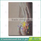 100% Handmade Beautiful Woman Nude Oil Painting Art Canvas