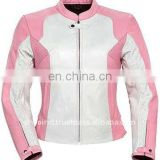 Leather Motorbike Ladies Jacket,pink leather motorcycle jackets
