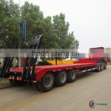 CLW 3 axle Flatbed Semi Trailer 50 ton with JAC Tractor Head