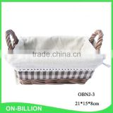 Sundries storage decorative mini knitting wicker handle basket