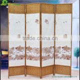 Byobu Folding Bamboo Screen decorative cared wood folding home room divider/byobu/wood room dividers GVSD 013