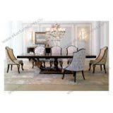 Giltwood Europen antique style big square baroque wood dining table set