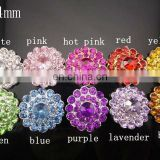 24mm Alloy Color Gems Crystal Button Spark Rhinestone Buttons Decoration Accessory