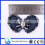 Fashion handmade shoes flower manufacturer to supply the new crystal beads