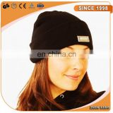 black acrylic beanie hat with led light inside Factory Custom led beanie for Christmas gift