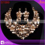 crystal big costume jewelry sets ST089
