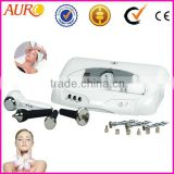 AU-6803 vacuum erection system 3 in 1 multifunctional diamond microdermabrasion ultrasonic beauty machine with cold & hot hammer