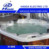 2017 big size Hot Tub, Outdoor Spa, Whirlpool Bathtub, Hydro Pool, Spas mp3 radio system