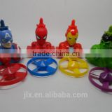 Super Hero Character Plastic Spinner Toy Assorment