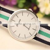 2015 new models watches Top wholesale nylon geneva women wrist fashion watch