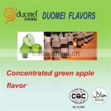 Concentrated liquid green apple flavor