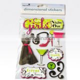 Fashion 3D Dimensional Layered Sticker